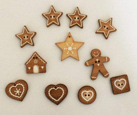 houten kerst knopen