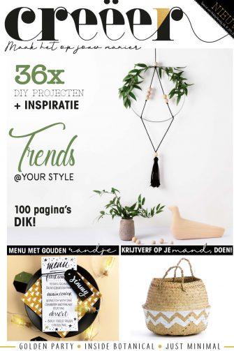 Creëer Magazine, DIY, Lifestyle, Tijdschrift, Imakin, Breien, Macramé, Bobbi Eden, Haken@Home, Bladgoud, Ecolife Tube