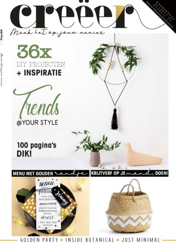 CreÃ«er Magazine, DIY, Lifestyle, Tijdschrift, Imakin, Breien, Macramé, Bobbi Eden, Haken@Home, Bladgoud, Ecolife Tube
