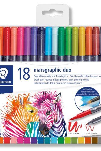 Staedtler duo fiber tip pens