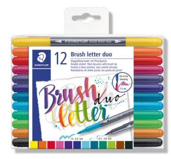 Brush letter duo