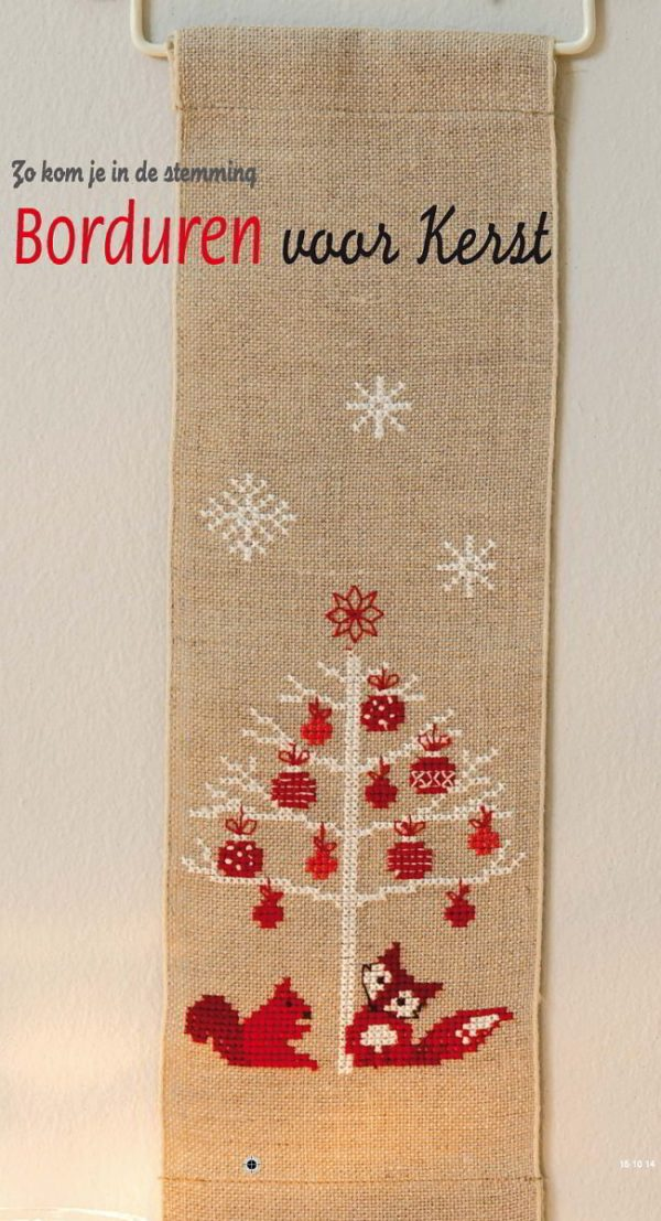 borduren voor kerst