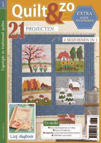 herfstquilts in bruintinten