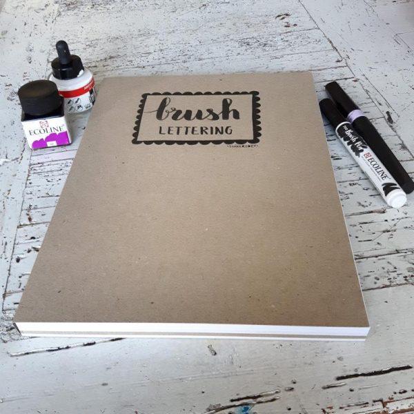 brushlettering papierblok