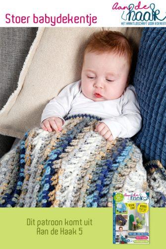 haakpatroon stoer babydekentje
