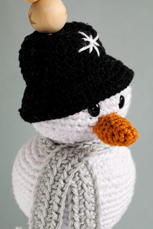 Sneeuwman met kralen Aan de Haak Sparkly Xmas CAL