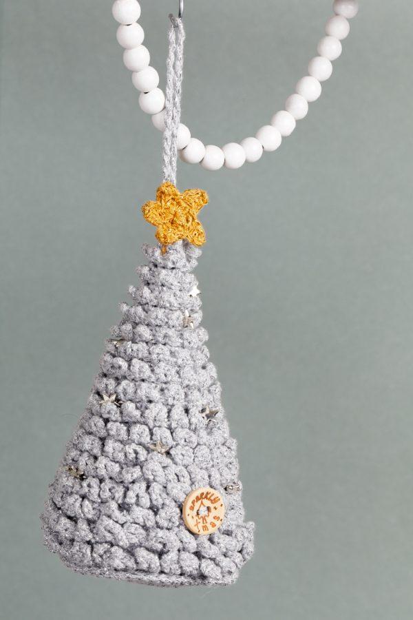 Kerstboom met knoop Aan de Haak Sparkly XMAS Hang-along