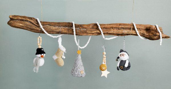 De vijf ornamenten Sparkly XMAS Hang-Along