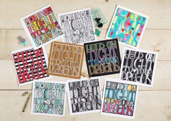 Creative Letters 9 - 1 ontwerp. 10 variaties