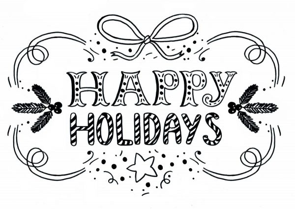 RaamtekeningHappy Holidays