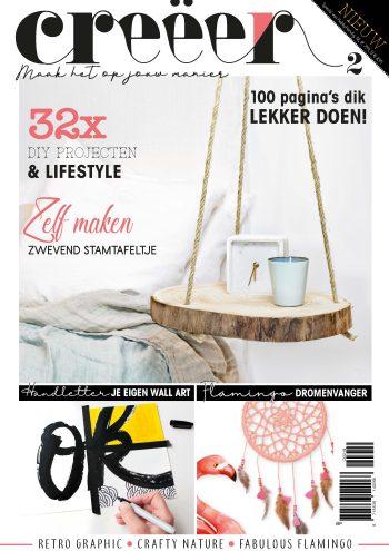 Creëer, DIY, Lifestyle, modern, Imakin, Paperfuel, Handletteren, Flamingo, Tijdschrift,