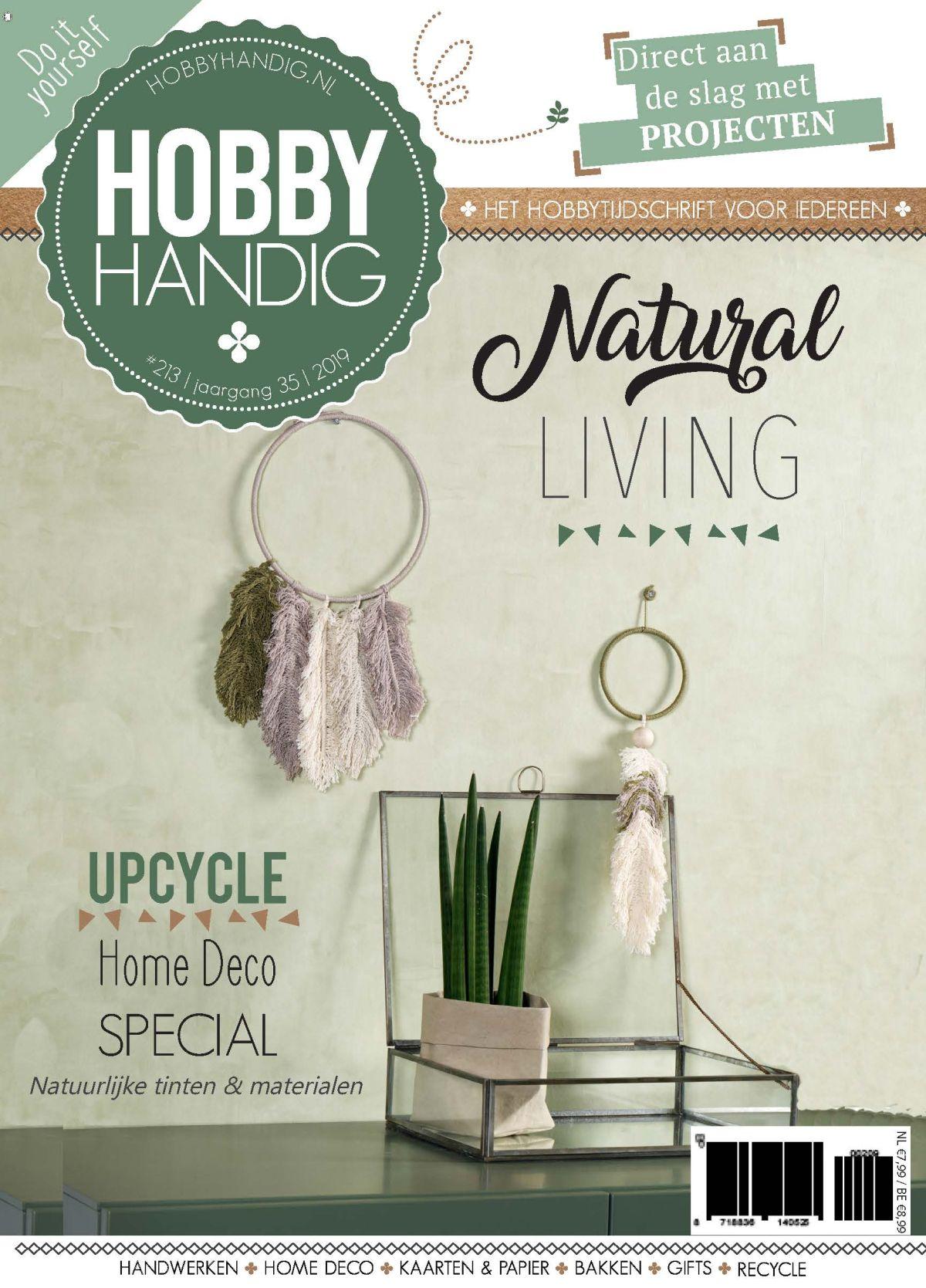 Tijdelijke cover Hobbyhandig 213 special Natural Living