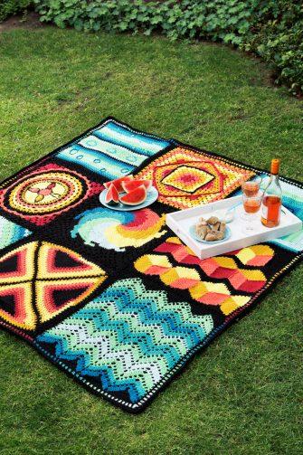 Haken, picknickkleed, DIY, Crochet along 2019, CAL, Aan de Haak, CAL pakket, Crochet Along pakket, Haakpakket