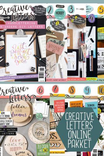 creative letters, handlettering, online, handletter inspiratie, bullet journal, hobbywebshop