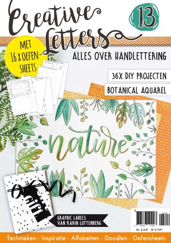 handlettering, creative letters, herftlettering, botanical style, hobbywebshop
