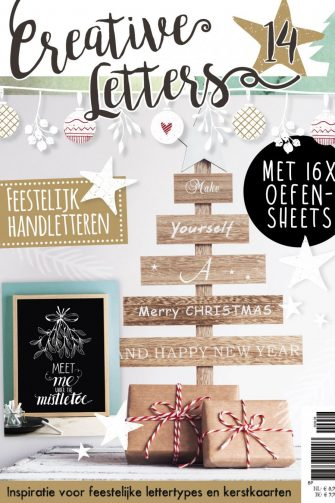 creative letters, handlettering, kerst, kersthandlettering, kerstletters, hobbywebshop
