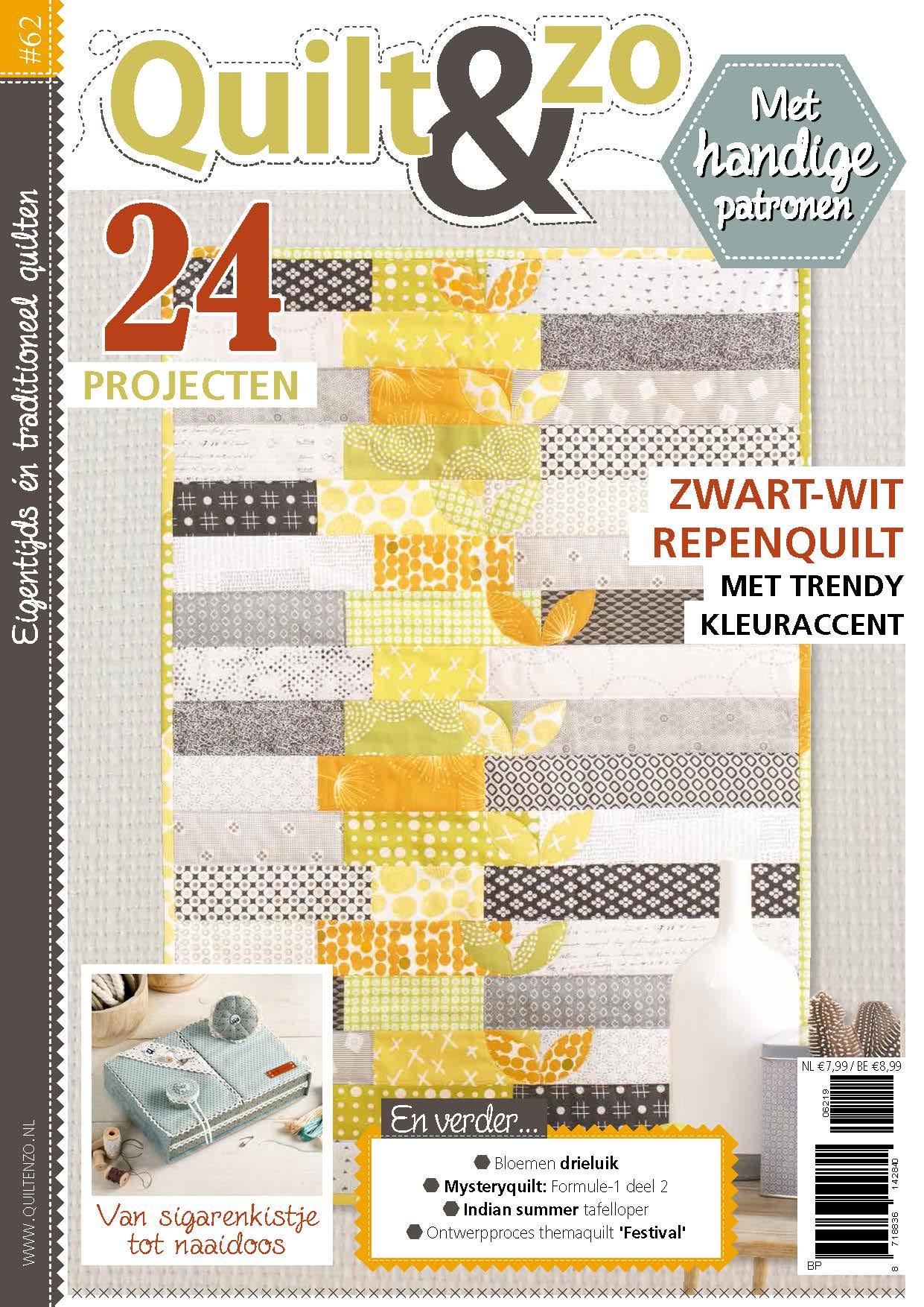 Quilt & Zo, quilten, quiltprojecten, hobbywebshop, quilttechnieken