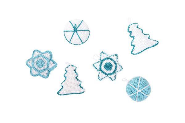Haakpatroon, haken, kerst, hangers