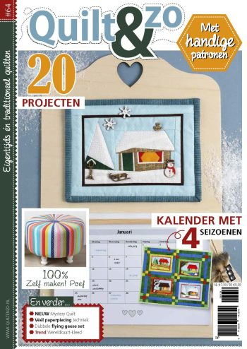 quiltkalender, quilten, winterquilt, quilt inspiratie, quiltproject, werkblad, patroon,