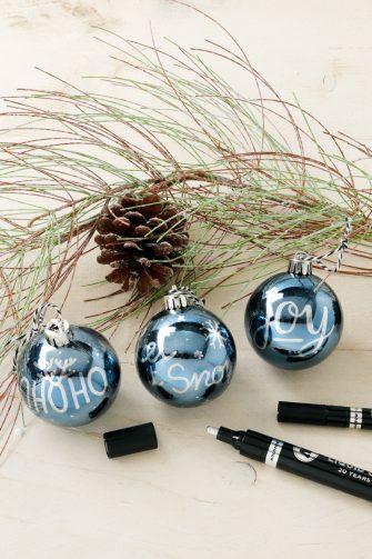Kerstballen, kerst, feestdagen, Creative Letters