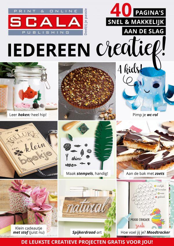 creatief, corona, blijf thuis, DIY, Scala magazine, Uitgeverij Scala, haken, handletteren, bakken, knutselen, kids