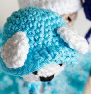 blauw met oortjes