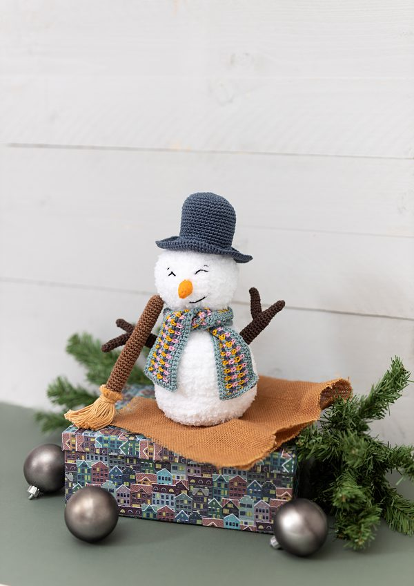 Haakpatroon - Vrolijke sneeuwman