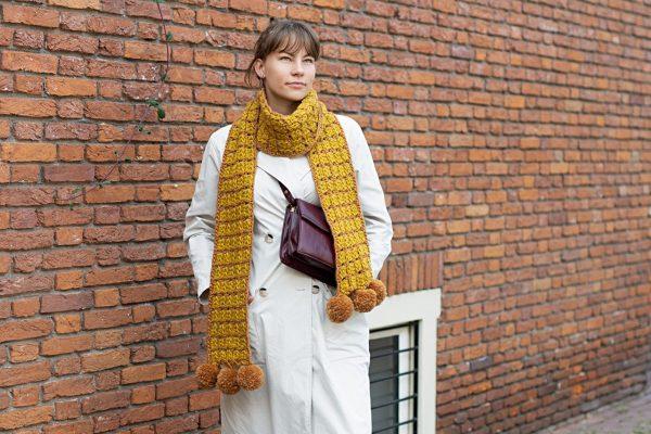 vooraanzicht sjaal