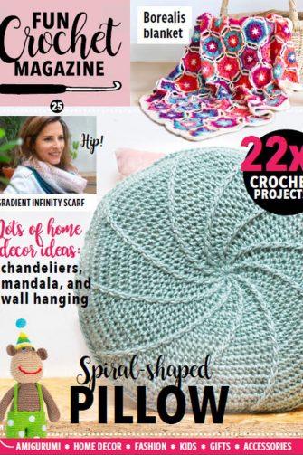 Fun Crochet Magazine, crochet, pillow, fun